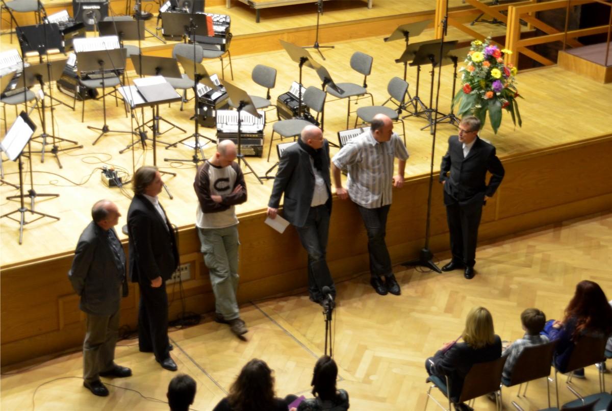 Die Komponisten von Breathing Life 2012