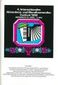 4. Internationales Akkordeon- und Mundharmonika-Festival in Innsbruck 1992