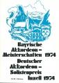 Bayerische Akkordeon-Meisterschaften in Inzell 1974