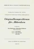 Das erste Konzert mit zeitgenössischer Akkordeonmusik 1949
