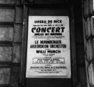 Konzertplakat in Nizza